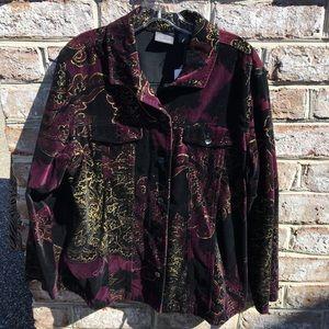 Chico's plummy royale alissa jacket (NWT)